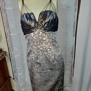 BADGLEY MISCHKA brocade dress STUNNING